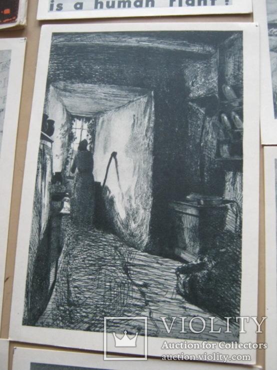 Набор открыток Скульптура и графика США, фото №9