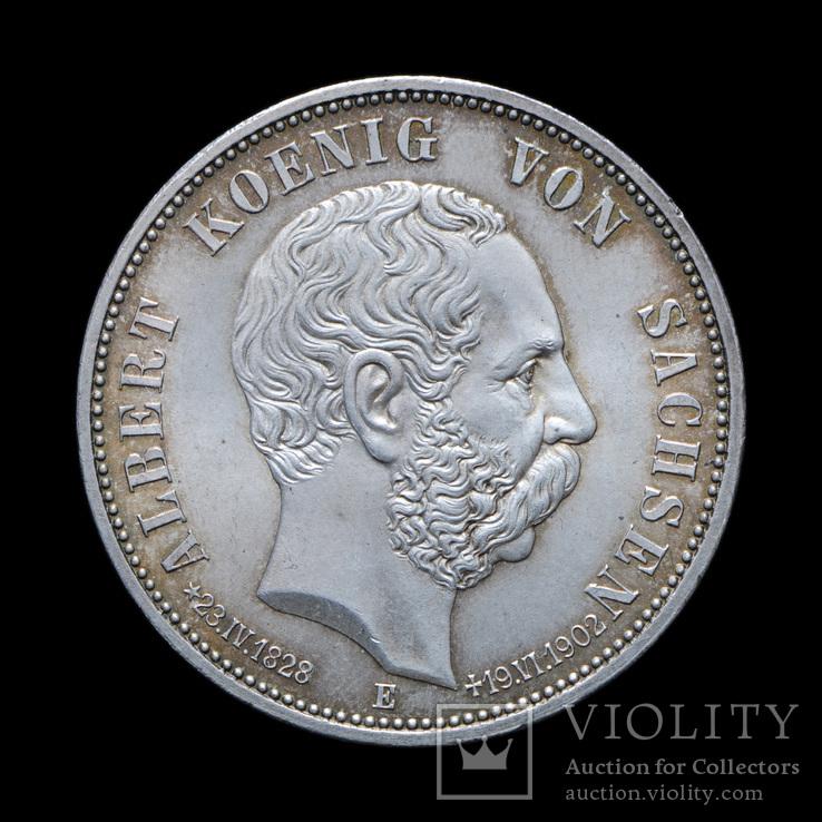5 Марок 1902 Посмертные, Саксония UNC