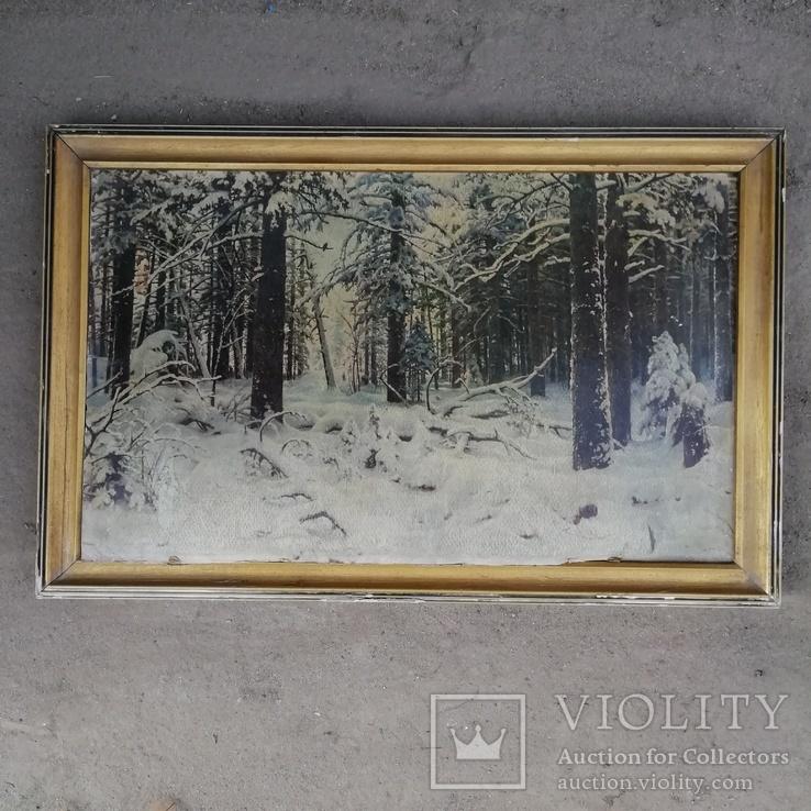 Картина ''Зима''. Художник И.Шишкин 1964 года