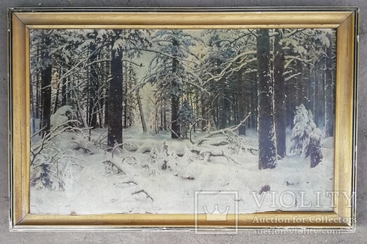 Картина ''Зима''. Художник И.Шишкин 1964 года, фото №3