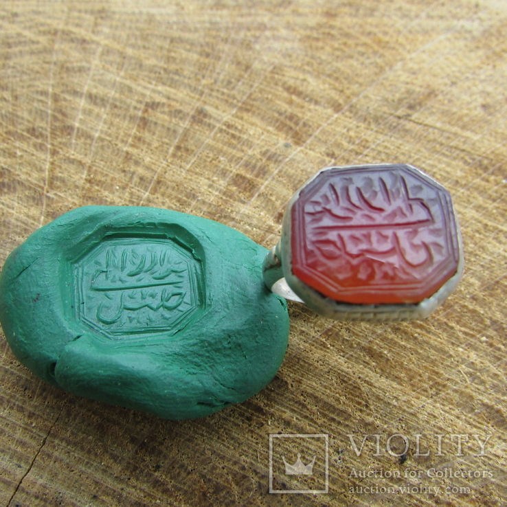 Османский Серебряный перстень печатка с надписью