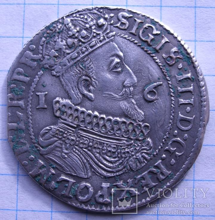 Орт 1624 года Гданьск Сигизмунд III Ваза