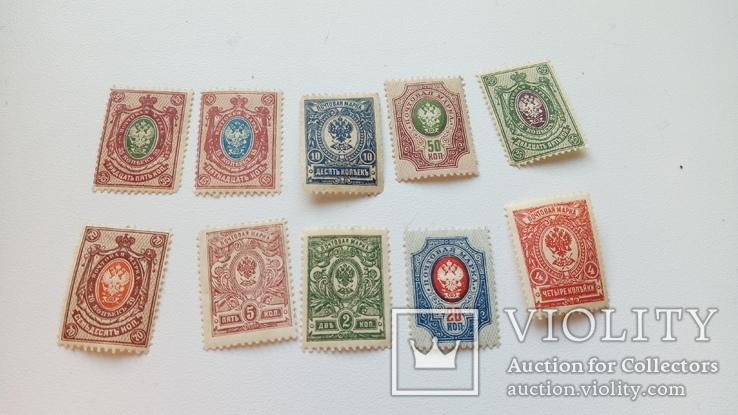 Почтовые марки Царской России + марки Франции 1970-х, фото №4