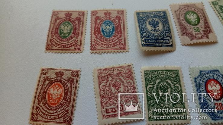 Почтовые марки Царской России + марки Франции 1970-х, фото №5