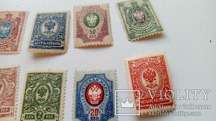 Почтовые марки Царской России + марки Франции 1970-х, фото №6