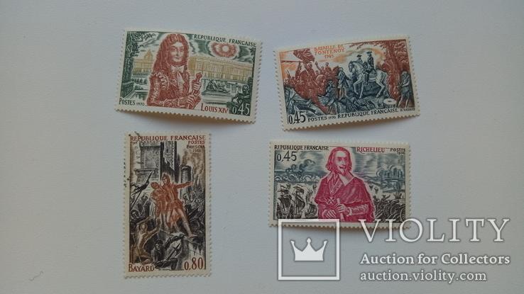 Почтовые марки Царской России + марки Франции 1970-х, фото №8