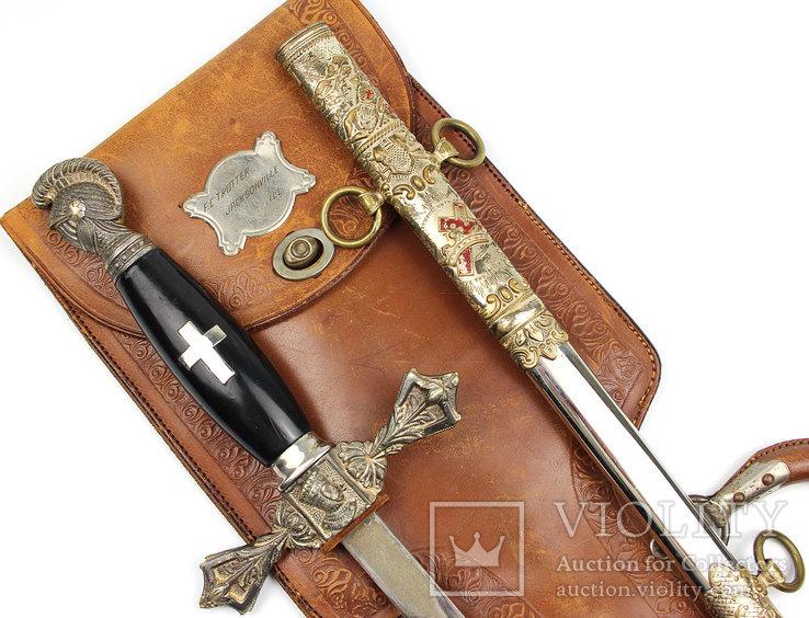 Масонский церемониальный меч + родной чехол, 1890-1920 годы