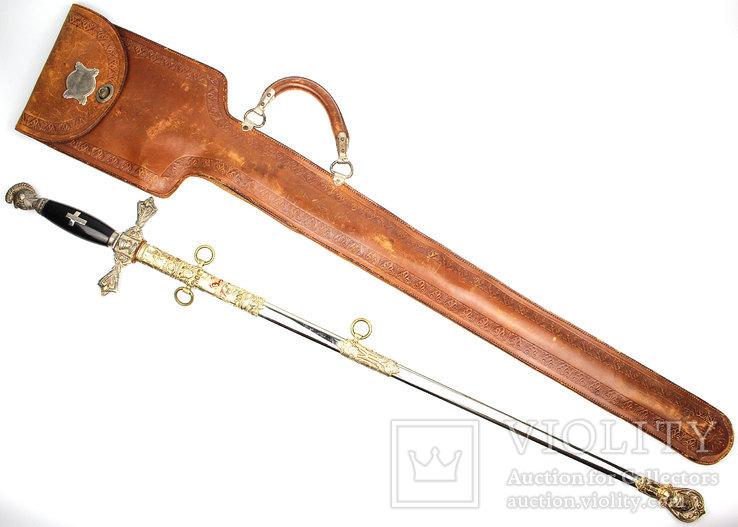 Масонский церемониальный меч + родной чехол, 1890-1920 годы, photo number 3