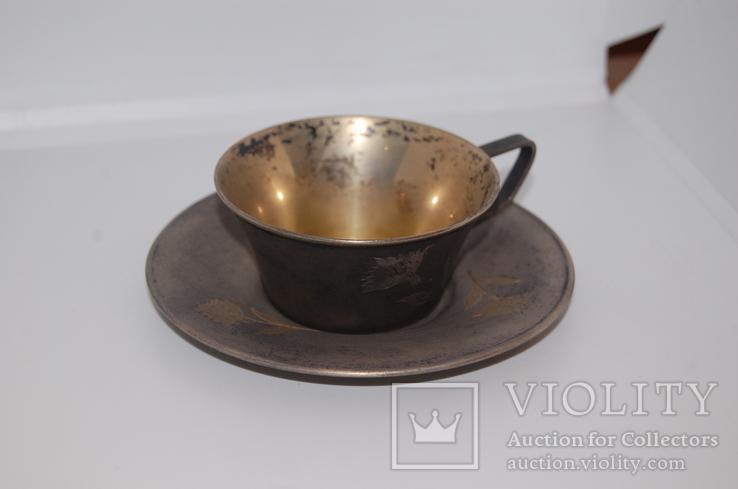 Кофейная пара Серебро 875 (134 грамм)