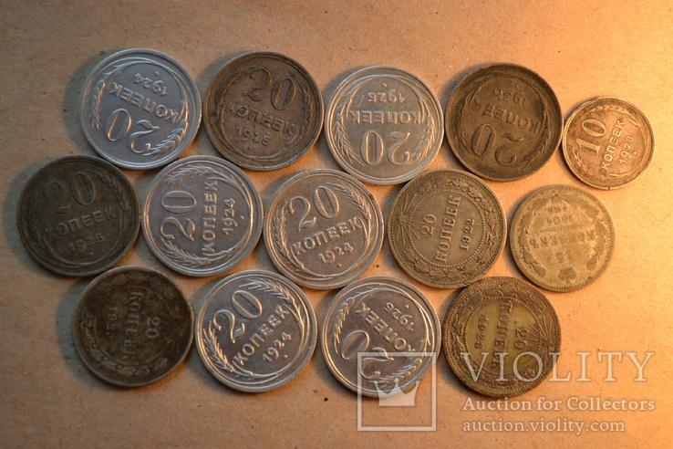 Монеты. Билон. 14 штук.