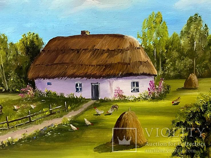 Сельский пейзаж.30х40 Шаркади Н., фото №4