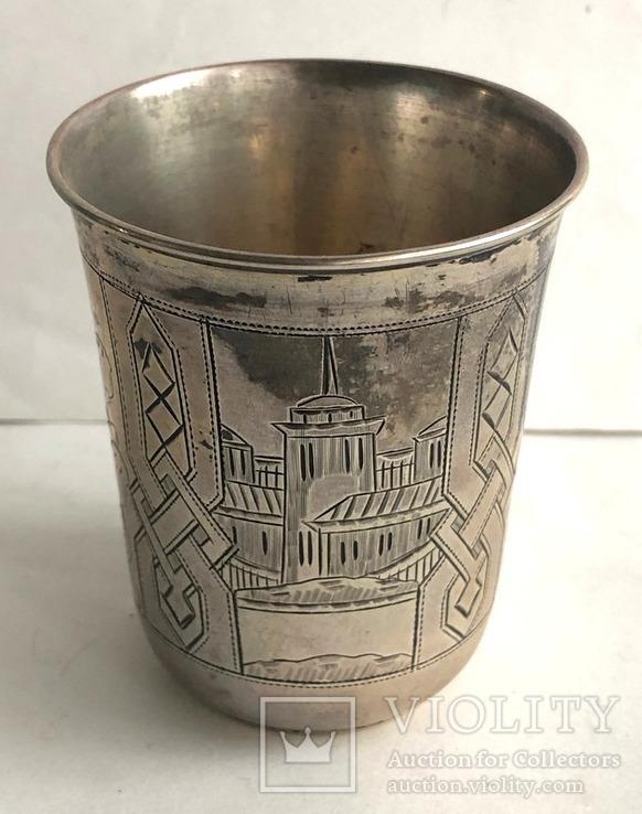 Киддушный стакан. Иудаика. Серебро, 84. 1886 год., photo number 4