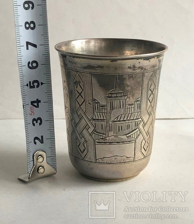 Киддушный стакан. Иудаика. Серебро, 84. 1886 год., photo number 7