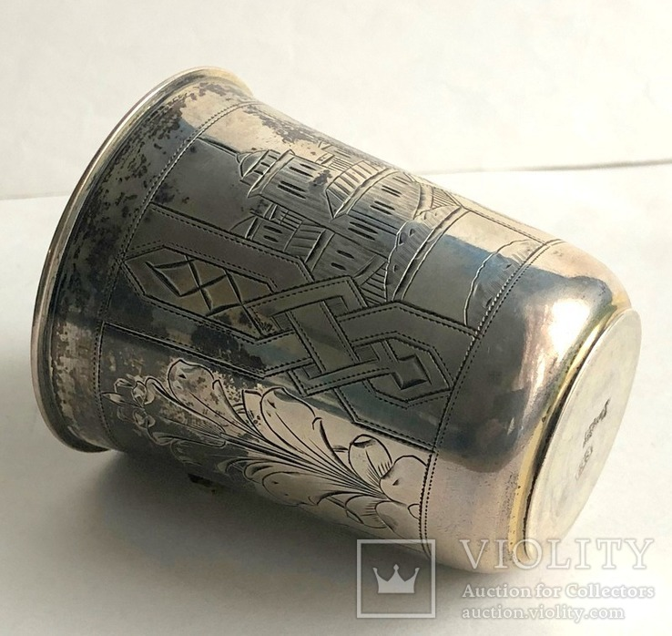 Киддушный стакан. Иудаика. Серебро, 84. 1886 год., photo number 8