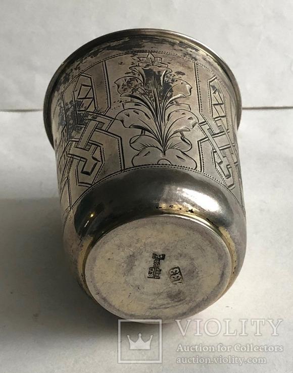 Киддушный стакан. Иудаика. Серебро, 84. 1886 год., photo number 9