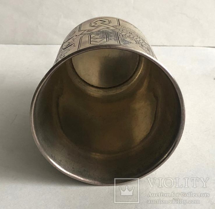 Киддушный стакан. Иудаика. Серебро, 84. 1886 год., photo number 12