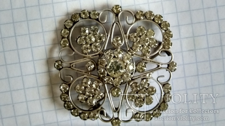 Брошь серебро 875пр. звезда +камни, фото №12