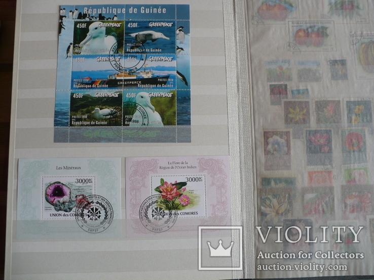 Около 200 марок и 56 сцепок,м.л., темы Фауна,флора в альбоме, фото №10