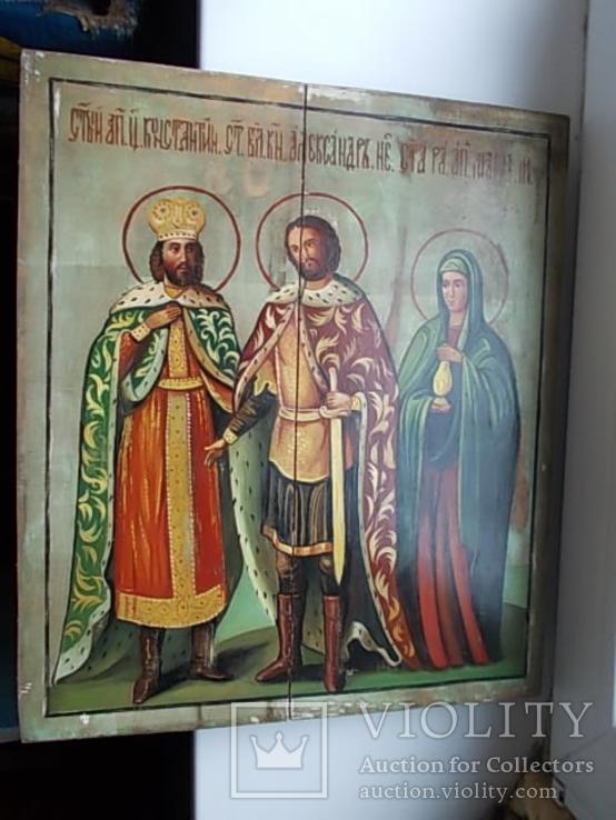 Икона Святой Константин Князь Александръ и Святая Мария