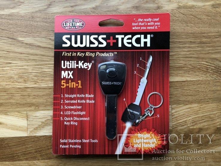 Мультитул Swiss+Tech Utili-Key MX 5-in-1 (ST66685ES) + Шагометр Adidas Speed Cell, фото №2