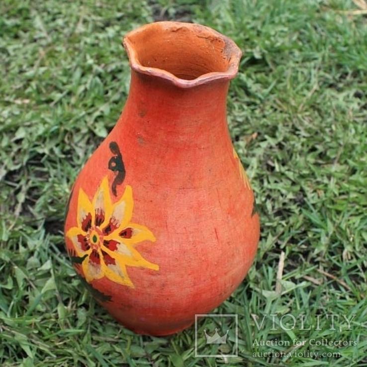 Глиняная ваза №1, ручная роспись, фото №4