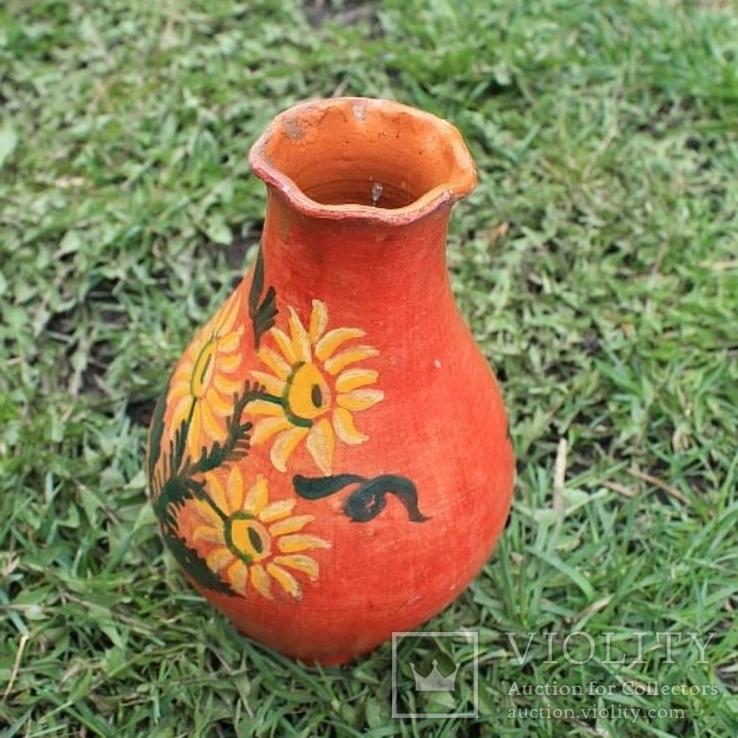 Глиняная ваза №1, ручная роспись, фото №6