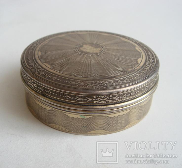 Табакерка. Серебро, 950. Франция., фото №4
