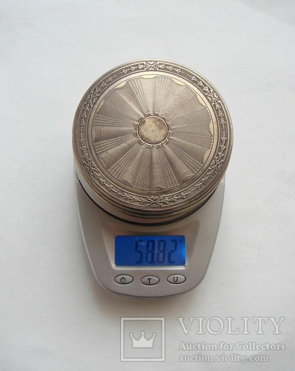Табакерка. Серебро, 950. Франция., фото №13