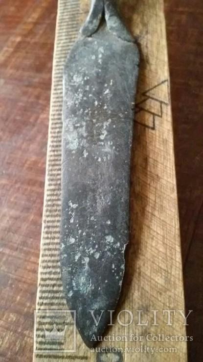 Кованний наконечник дротика 9 см(Пізня бронза), фото №5