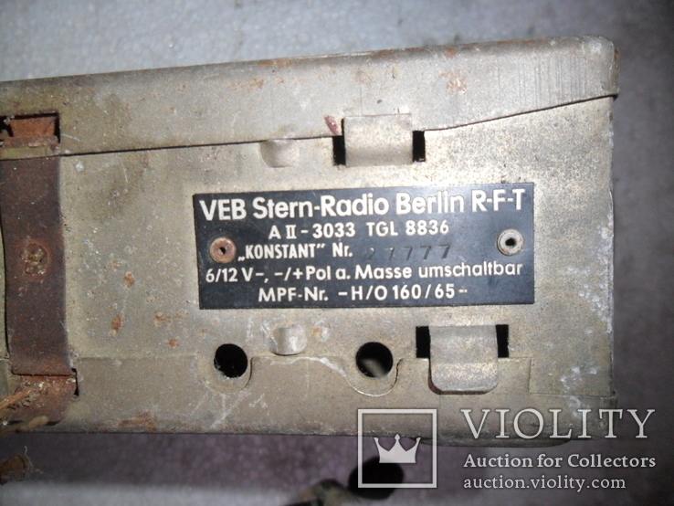 Старое немецкое авто-радио, фото №2