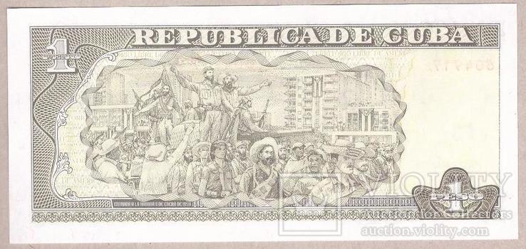 Куба 1 песо  2003 г. UNC, фото №3