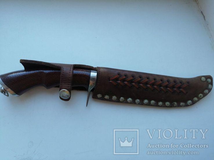 Охотничий нож с деревяной рукояткой, photo number 3