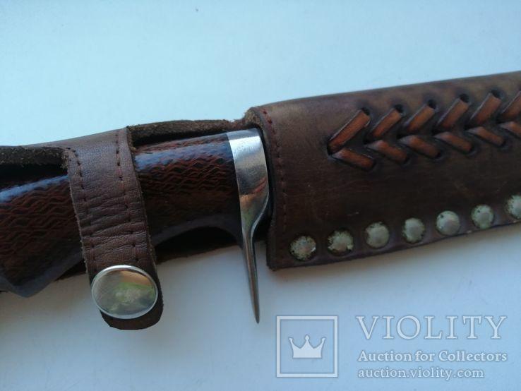 Охотничий нож с деревяной рукояткой, photo number 4
