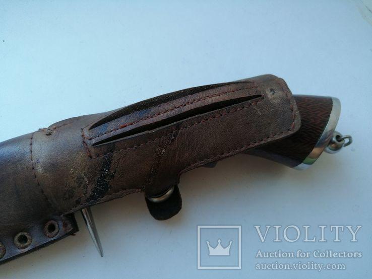 Охотничий нож с деревяной рукояткой, photo number 6