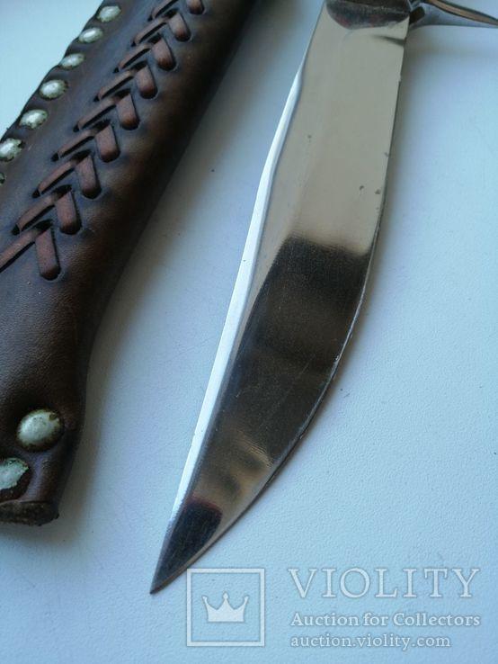 Охотничий нож с деревяной рукояткой, photo number 7