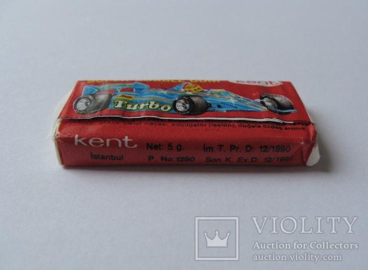 Нераспечатанная жвачка Турбо 1990 года, 2-ая серия (вкладыш с 51 по 120), фото №5