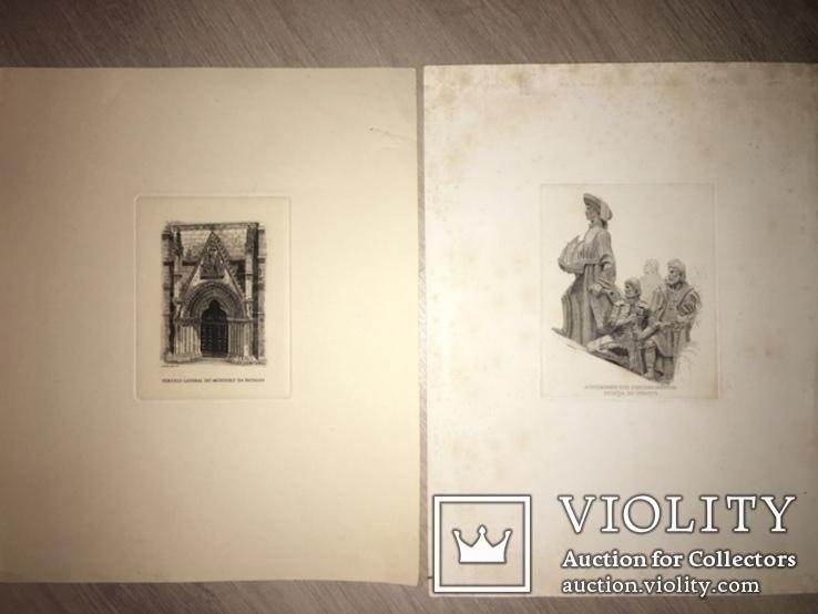 Две гравюры J. Bastos Silva, Португалия