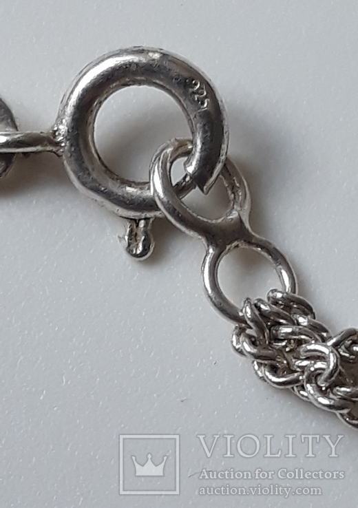 Старое серебряное украшение 835 пробы, фото №8