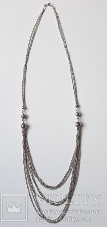 Старое серебряное украшение 835 пробы, фото №10