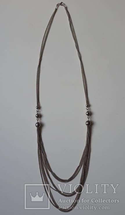 Старое серебряное украшение 835 пробы, фото №11