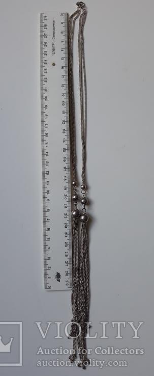 Старое серебряное украшение 835 пробы, фото №12
