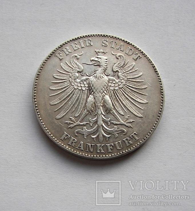 Талер 1859 Франкфурт, фото №3
