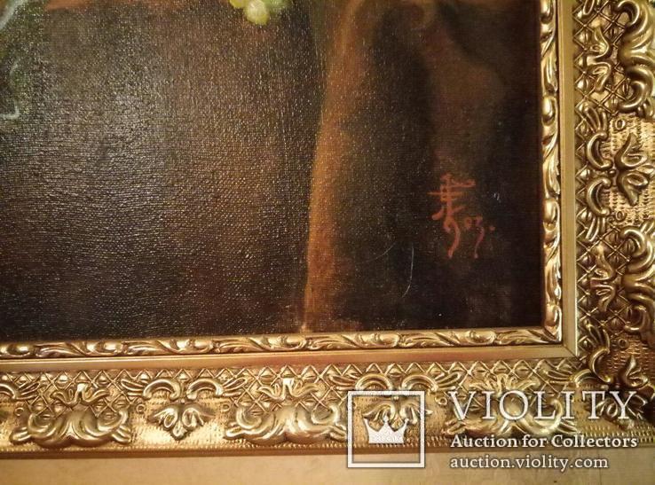 Натюрморт с омаром, 50х60 см, 2003 г., Кульчицкая Евгения. Копия., фото №4