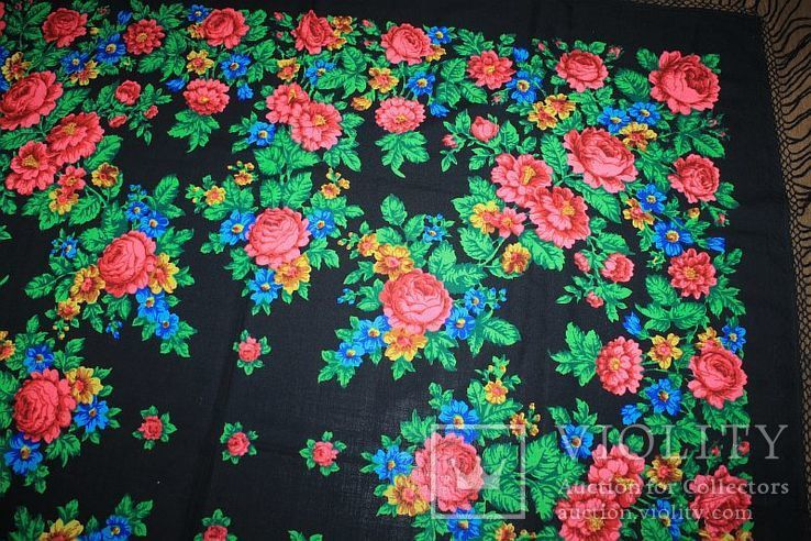 Шерстяной платок №245, фото №6