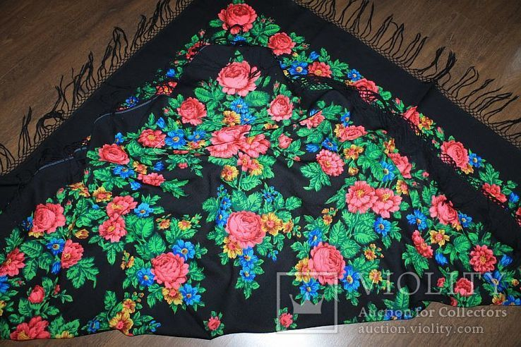 Шерстяной платок №245, фото №8
