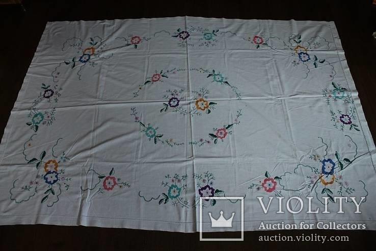 Скатерть на стол с богатой вышивкой №2 (З), фото №2