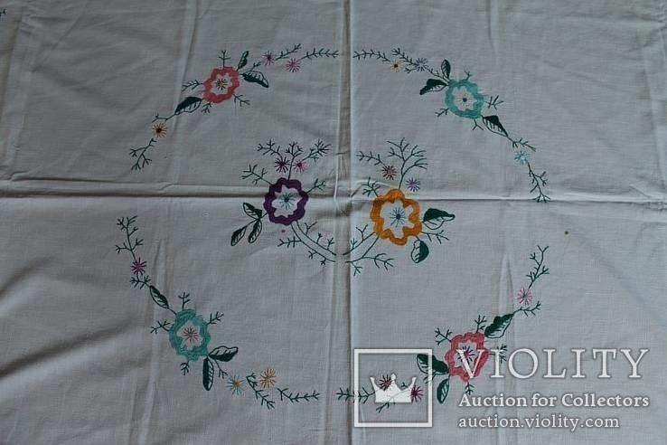 Скатерть на стол с богатой вышивкой №2 (З), фото №3