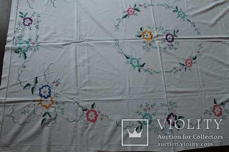 Скатерть на стол с богатой вышивкой №2 (З), фото №7