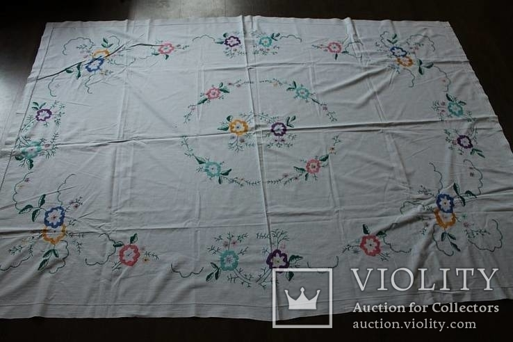 Скатерть на стол с богатой вышивкой №2 (З), фото №9