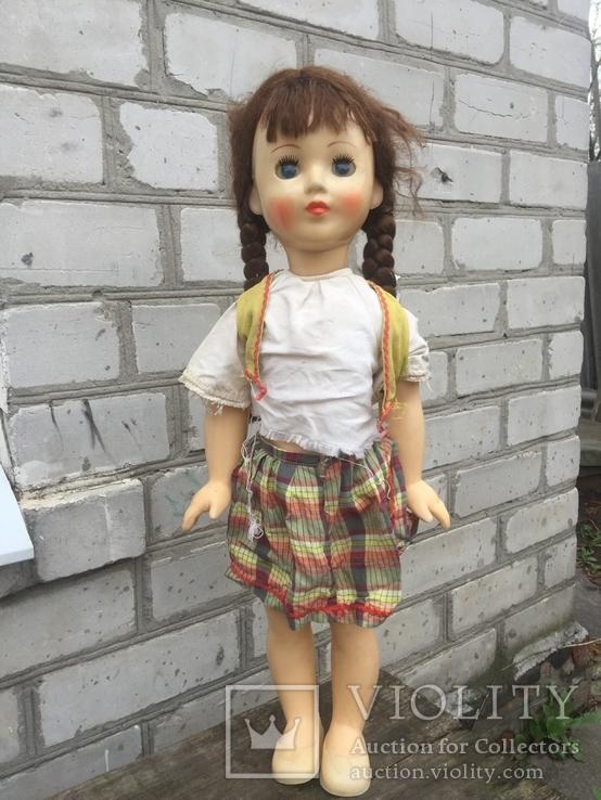 Кукла паричковая СССР 59 см